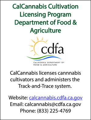 CalCannabis Cultivation Licensing Program Department of Food & Agriculture