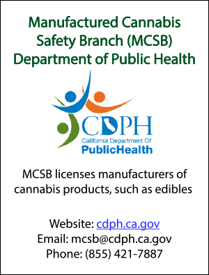 Manufactured Cannabis Safety Branch (MCSB) Department of Public Health
