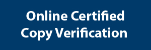 Online Certified Copy Verification