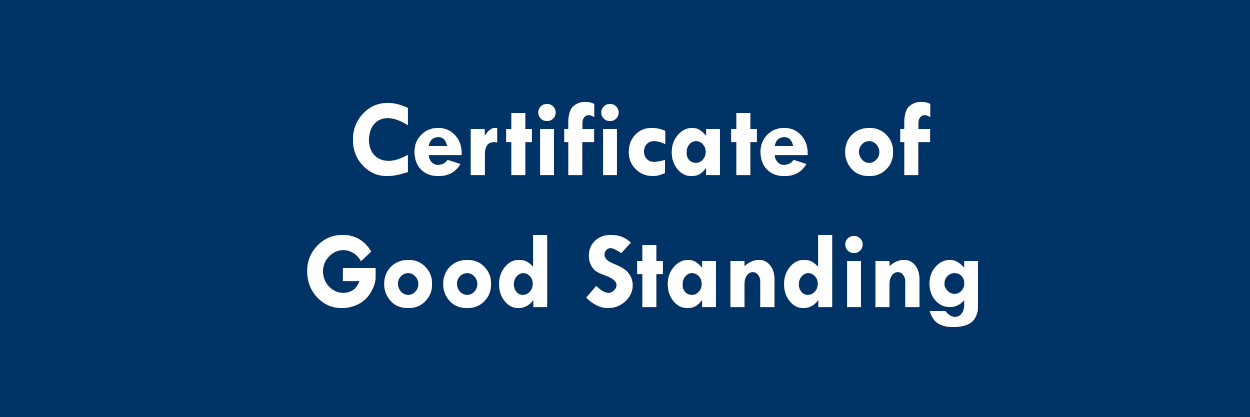 Certificate of Good Standing