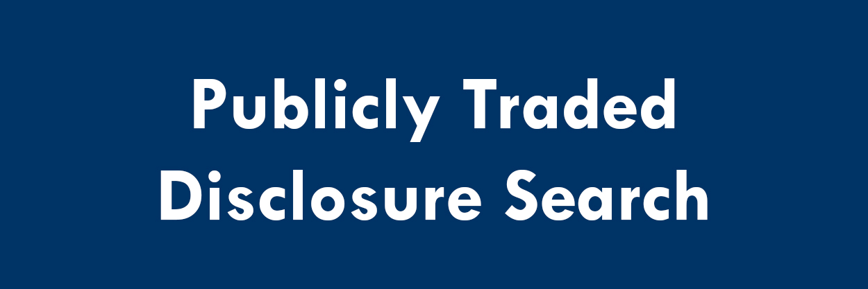 Publickly Traded Disclosure