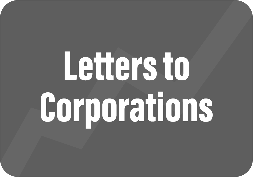Letters to Corporations
